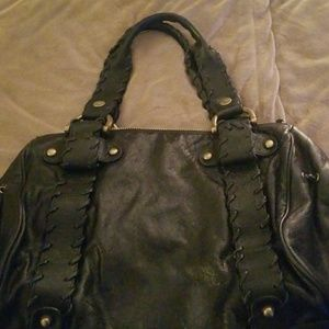 Black Leather Kooba Satchel